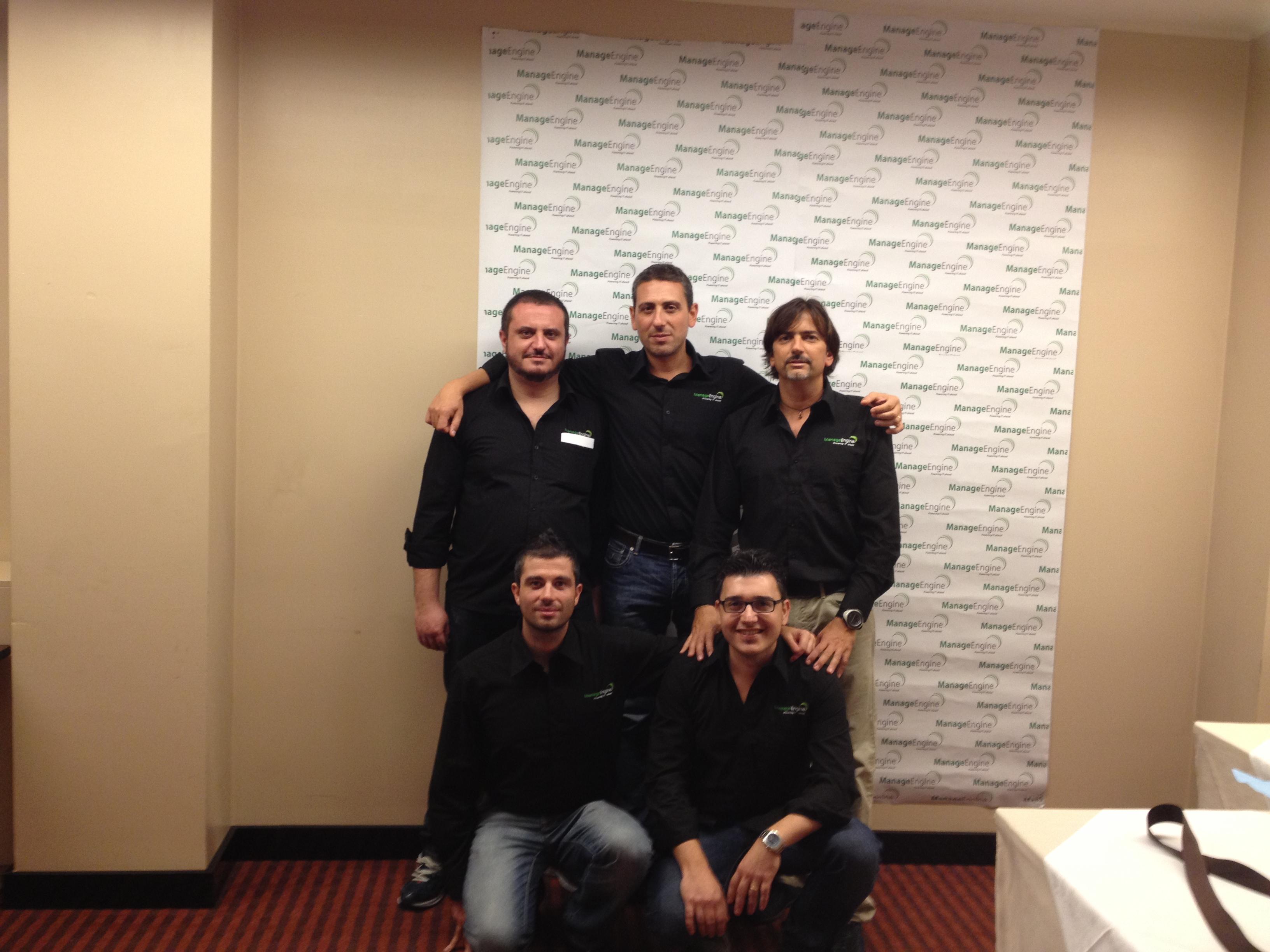 Ecco parte del Team Italiano dedicato a ManageEngine